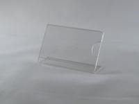 Держатель ценника 60х40 L-образный с выемкой для пальца, ценник